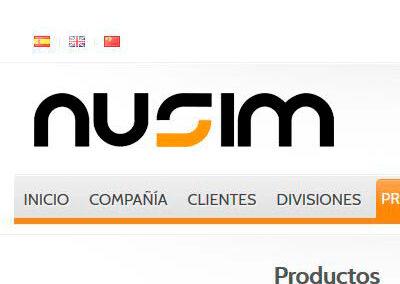 Sitio web Nusim