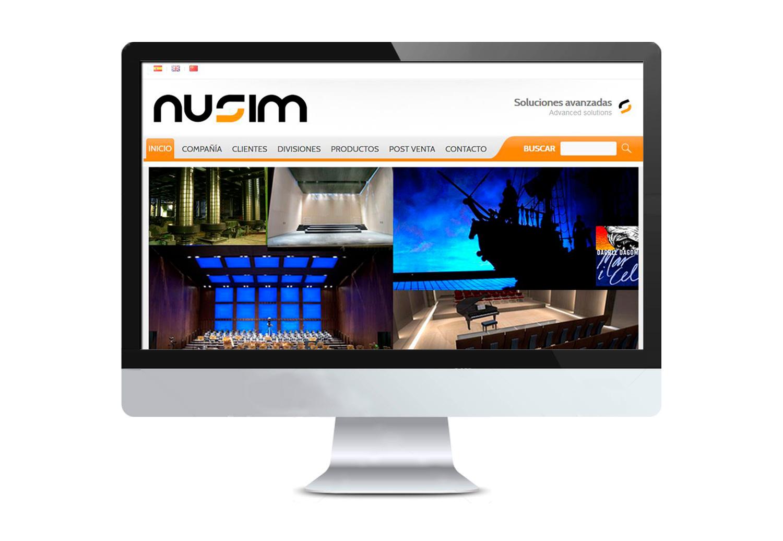 Diseño y desarrollo web para Nusim