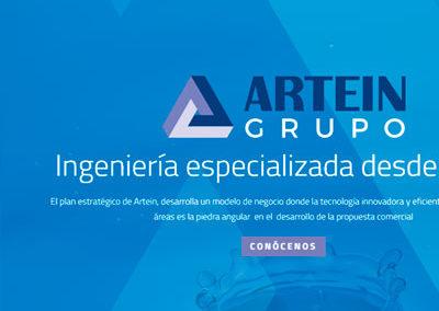 Sitio web Artein ingeniería